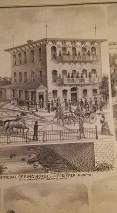 1870 Pic Of Hotel In Adrian Michigan Later Became Clem Finerty Liance
