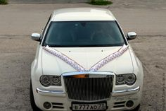 Свадебная лента-рюша на капот - Ярмарка Мастеров - ручная работа, handmade