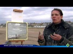 Roos Schuring is a plein air painter from Holland, and in this video Noel Garner of Cambridge Art Academy caught up with Roos as she was painting a seascape . Painting Videos, Painting Lessons, Art Lessons, Painting Tutorials, Watercolor Tutorials, Art Tutorials, Seascape Paintings, Landscape Paintings, Abstract Landscape