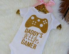 Lovely child girl onesie video video games on Etsy, a worldwide handmade and classic market. Learn more at  https://www.etsy.com/search?q=baby%20girl%20onesie%20video%20games&order=most_relevant