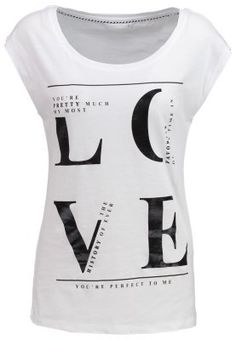 Only Petite ONLJOLI - Print T-shirt - bright white for £14.00 (12/09/15) with free delivery at Zalando