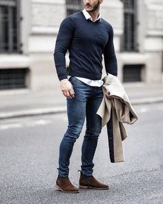 pulls for men inspiration grid style outfits mens outfit men's fashion style inspiration casual style Stylish Mens Outfits, Casual Outfits, Stylish Jeans For Men, 30 Outfits, Winter Outfits Men, Business Casual Men, Men Casual, Business Suits Men, Mode Man