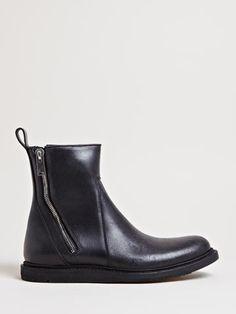 Leather CLASSIC ZIP WEDGE Booties Spring/summerRick Owens Qht0t0PJo