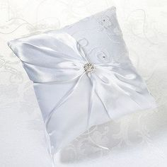 Lillian Rose Lace Ring Pillow, 7.5-Inch, White - Click image twice for more info - See a larger selection of bridal accessories at http://zweddingsupply.com/product-category/bridal-accessories/ - woman, woman fashion, wedding , wedding fashion, wedding style, bride , accessories