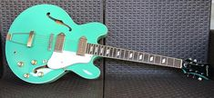 <3 HOT-HOT-HOT <3 : Neon Lime Green Vintage Electric Guitar is The dealio!! | https://www.facebook.com/