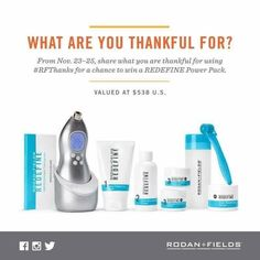 """YOU CAN WIN!!! Happy Monday! I am so excited to share with you an amazing, no purchase necessary give-away today through Wednesday!  Simply publicly post what you are thankful for and use the hashtag #RFThanks for a chance to win the amazing products listed below, yes, ALL OF THEM!!! You can post on Facebook, Instagram and/or Twitter!!! Feel free to """"share"""" this post, tag me, and you might be rewarded twice! :)   There are so many things to be thankful for this holiday season!"""