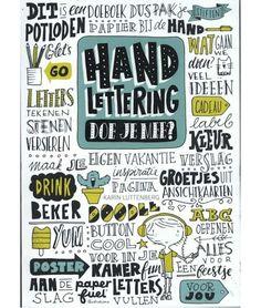 Handlettering, doe je mee? Art Books For Kids, Art For Kids, Bullet Art, Book Art, Doodles, Bullet Journal, Letters, Bujo, Journaling