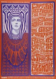 60s music posters- remembering the Filmore and Haight Ashbury