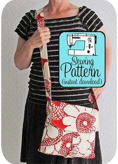 Messenger Bag PDF Sewing Pattern (Instant Download) by Michellepatterns | Etsy