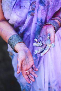 Traditional Holi Festival colored powder. Photo: Allison Jones
