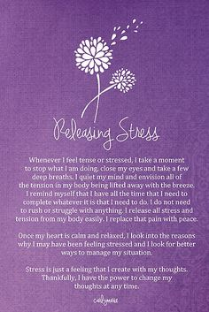 Releasing Stress & Tension Affirmation