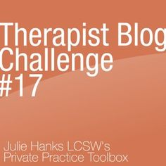 Here's another Therapist Blog Challenge to get your creative juices flowing! Therapist Blog Challenge #17 deals with how to cope with Social Anxiety Disorder. Those who experience this condition often feel crippling insecurity and fear in social...