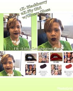 Lipsense Blackberry and Fly Girl layered w/Glossy Gloss. Join my FB Page @ Lulus Longlasting Lips. Lipsense is a must have for us busy women!! Once on it lasts 4-18 hours. 70+ colors to be mixed up & create your own unique look. Different gloss applications to change it up also. It's Kiss Proof, waterproof, sweat proof. #luluslonglastinglips #lipsense #lips  #budgeproof #smudgeproof #senegence #bealipboss #beyourownboss #liquidlipstick  #glutenfree #vegan