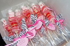 zebra pink candy kabobs party favors by Simply Sweets, via Flickr