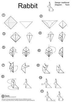 origami rabbit instructions - Google Search