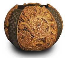 Carved Gourd Art by Jordan Straker valued at $3500