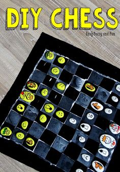 DIY Chess Board Game - Easy Peasy and Fun