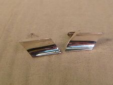 BALDERAS STERLING CUFF LINKS SILVER TAXCO 925 ARTISAN HANDCRAFTED MODERNIST