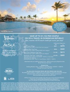 Save Up to $1,152 Per Couple on 2016 Travel in Dominican Republic! | Artis Travel Group