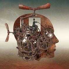 """""""Time machine"""" Wenn die Gefühle sterben und die Technologie das Steuer übernimmt. Die Schattenseite unserer Gesellschaft: Kontroverse Illustrationen von Igor Morski"""