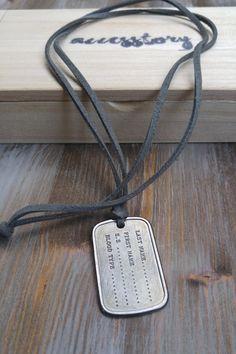 Ανδρικό κολιέ 'Metal Tag' Men Necklace, Dog Tag Necklace, Dog Tags, Necklaces, Metal, Jewelry, Jewlery, Bijoux, Chain