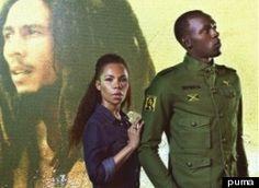 Puma brings you Usain Bolt, Cedella Marley & Bob Marley Bob Marley, Usain Bolt, Olympic Team, Olympic Games, Tao, Stella Mccartney, Marley Family, Nesta Marley, 2012 Summer Olympics