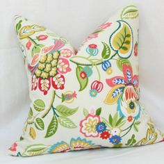 multicolor floral outdoor pillow