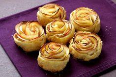 Mini Apfel-Blätterteig-Rosen