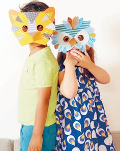 Siminovich also showed us how to create these tiger and owl masks -- they make for a wild and crafty afternoon!