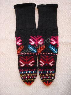 Old Folk Bulgarian Handknitted Woolen Woman's Socks from Velingrad Region   eBay