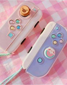 Kawaii Games, Nintendo Switch Case, Nintendo Switch Accessories, Gaming Accessories, Kawaii Bedroom, Otaku Room, Gaming Room Setup, Pc Setup, Gaming Rooms