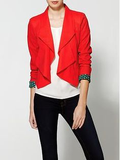 Ark & Co. Winter Red Blazer | Piperlime on sale for $29.97.  I wish I could pull this off!  But I can't wear red. Not a good color for some gingers. :(