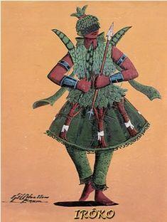 Irôko tem um temperamento estável, de caráter firme e em alguns casos violento.  Na Nigéria, Irôko é cultuado numa árvore que tem o mesmo nome. Porém, no Brasil esta árvore foi substituída pela gameleira-branca que apresenta as mesmas características da árvore usada na África. É nesta árvore, a gameleira-branca, que fica acentuado o caráter reto e firme do orixá pois suas raízes são fortes, firmes e profundas.