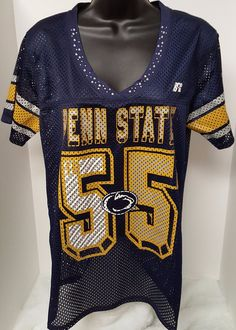 Russell NWT Woman's Penn State #55 Jersey Shirt Size M (8/10) #Russell #PennStateNittanyLions