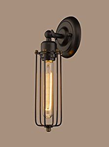 yobo lighting industrial edison mini long wire cage oil rubbed bronze wall sconce find similar products by clicking the visit button