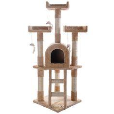 Arbol Trepador Rascador Para Gatos Casa Mascota Juego Casita - $ 2,200.00