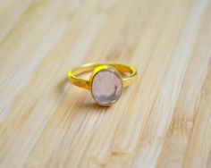 Rose Quartz Oval Shaped Ring with Hammered Band by DimplesNGuns Oval Shape, Rose Quartz, 3, Gemstone Rings, Silver Rings, Stud Earrings, Shapes, Gemstones, Band