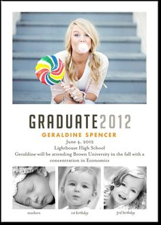 Idea for graduation invitations
