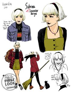 Drawing Comics Exclusive: Sabrina the Teenage Witch is getting a new, non-'chilling' comic series - Sabrina Spellman contains multitudes. Viewers who first fell in love with the titular teenage witch on the cute sitcom… Kelly Thompson, Character Drawing, Comic Character, Character Design, Character Concept, Concept Art, Archie Comics Characters, Witch Drawing, Woman Drawing