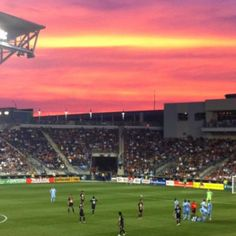 Sunset at the Philadelphia Union game