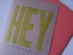 Cute thank you card.