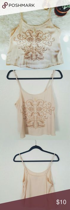 FOREVER21 sequined and embroidered top Small stain in the top which I will clean before shipping. Please let me know if you are interested or want to make an offer! Forever 21 Tops Tank Tops