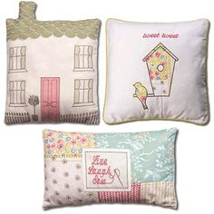 Kirstie Allsopp Cushions to co-ordinate with Luella Spring, Available at www.victorialinen.co.uk/