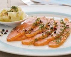 Saumon gravlax (saumon frais mariné à l'aneth) Ingrédients