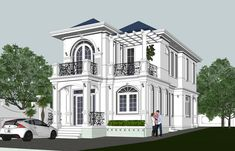 Modern Exterior House Designs, Villas, Architecture Design, House Plans, Houses, Mansions, House Styles, Building, Interior