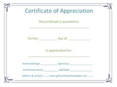 Elegant certificate of appreciation template - Certificate Templates
