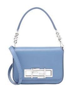 Fendilight blue leather '3Baguette' convertible shoulder bag