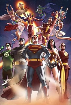 The artist brings us the league members of justice. Who are your favorites? Justice League, by Bentti Bisson. Dc Comics Characters, Dc Comics Art, Marvel Dc Comics, Flash Comics, Martian Manhunter, Comic Books Art, Comic Art, Mundo Comic, Justice League Unlimited
