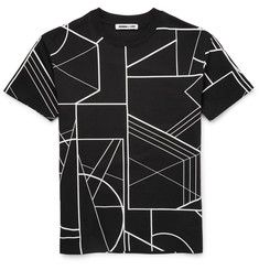 McQ Alexander McQueen - Printed Drop-Shoulder Cotton T-Shirt