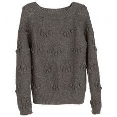 3b0102c1e56 Serendipity dame sweater i baby alpaca og lama uld. Mørkegrå. Str L